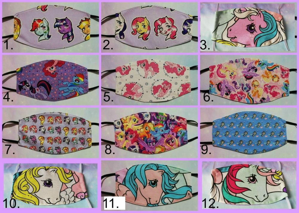 Fashion face mask made with My Little Pony Fabrics