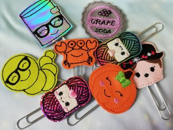 Mystery bundle of 5 Feltie charms or planner clips