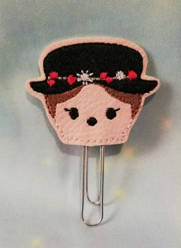 Kawaii Mary Poppins inspired Vinyl Feltie Clip Or Charm
