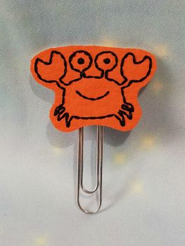 Cute Crab Vinyl Feltie Clip Or Charm