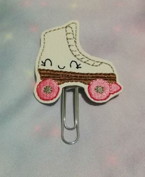 Kawaii Roller Skate Vinyl Feltie Clip Or Charm