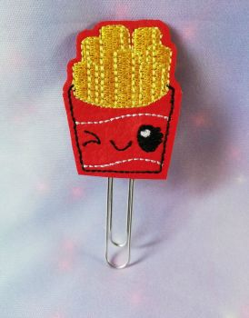 Kawaii French Fries Vinyl Feltie Clip Or Charm