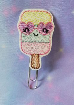 Kawaii Ice Lolly Vinyl Feltie Clip Or Charm
