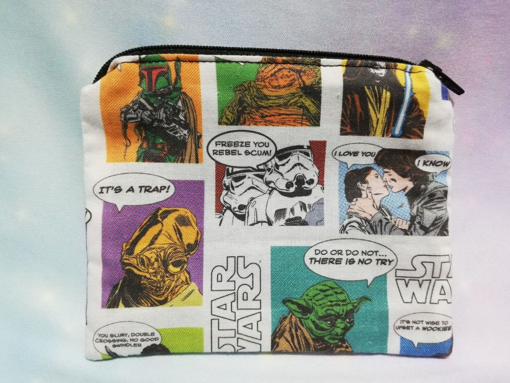 Zip Pouch Made With Star Wars Fabric - Comic