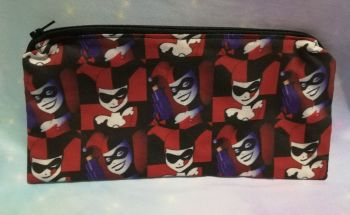 Pencil Case Made With Harley Quinn Fabric
