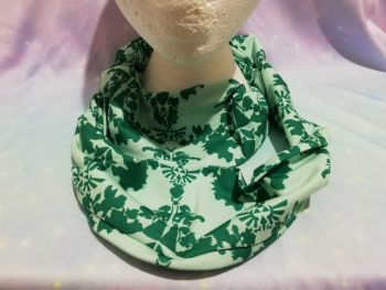 Infinity Scarf Made With Nintendo Damask Fabric