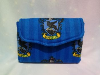 Mini Clutch Purse Made With Harry Potter House Fabric - Ravenclaw