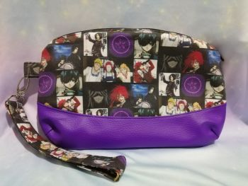Clutch Bag Made With Black Butler Fabric