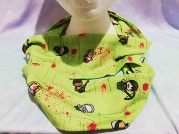Infinity Scarf Made With Walking Dead inspired Fabric