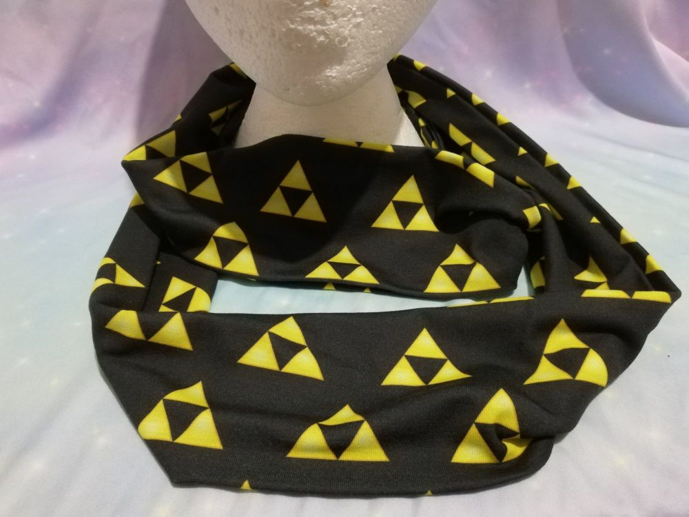 Infinity Scarf Made With Legend Of Zelda Triforce Fabric
