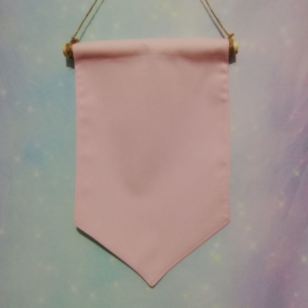 Pastel Pink Badge / Pin Display Pennant