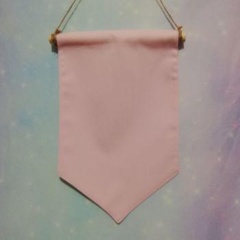 Pastel Pink Badge / Pin Display Pennant