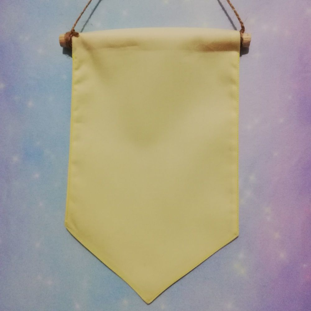 Pastel Yellow Pin / Badge Display Pennant