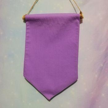 Lilac Badge / Pin Display Pennant