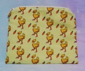 Zip Pouch Made With Chocobo Inspired Fabric - Exclusive