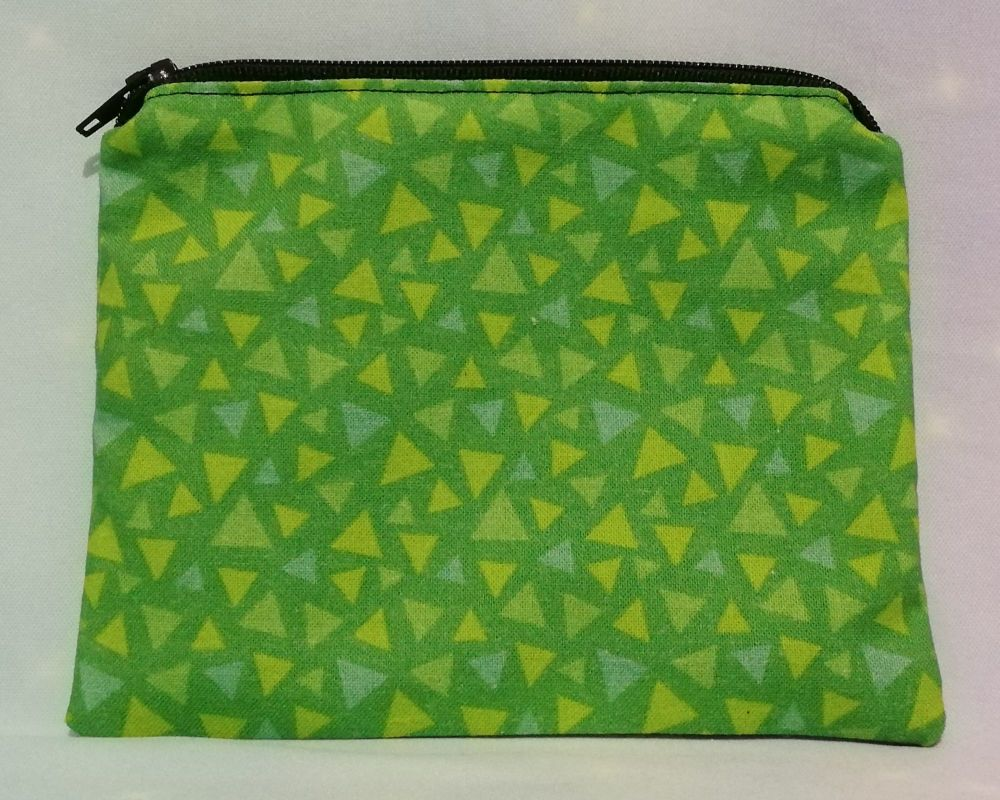 Zip Pouch Made With Animal Crossing Inspired Grass Fabric