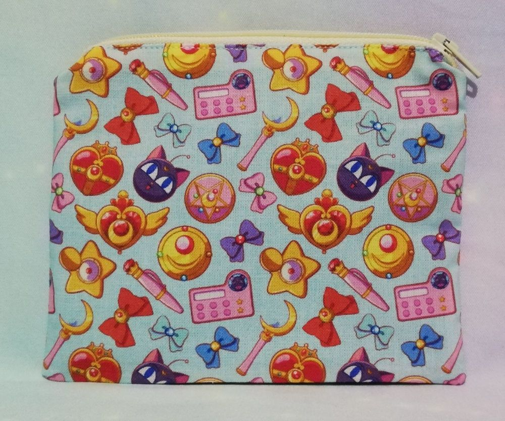 Zip Pouch Made With Sailor Moon Fabric - Items
