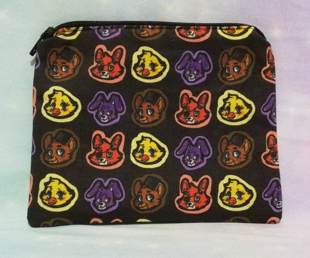 Zip Pouch Made With Five Nights At Freddys Inspired Fabric