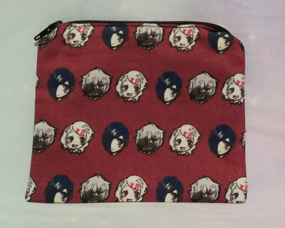 Zip Pouch Made With Tokyo Ghoul Inspired Fabric - Exclusive