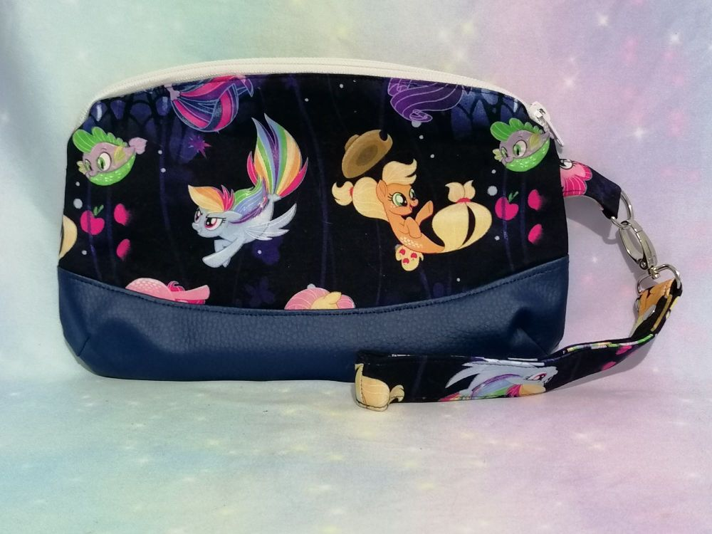 Clutch Bag Made With My Little Pony Fabric - Sea Ponies
