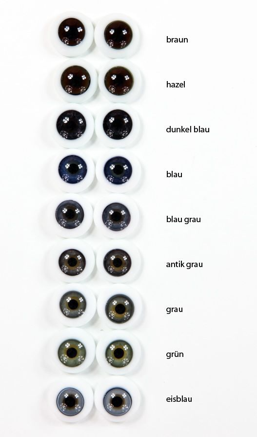Some examples of eyes which you can choose from