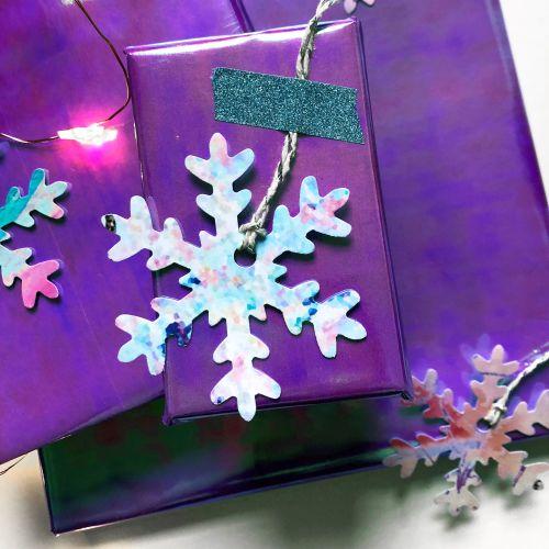 10 Snowflake Gift Tags
