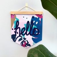 'Hello' Pennant Flag Hanging Decoration