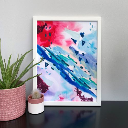 'Coral Reef' Abstract Print