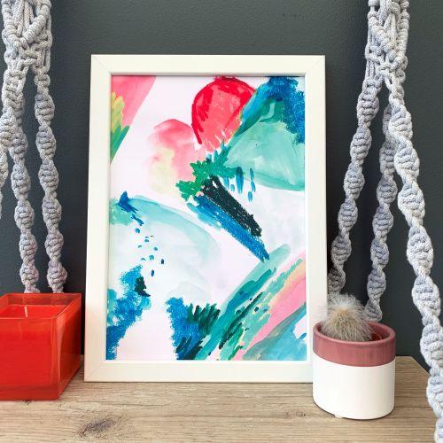 'Desert Sunrise' Abstract Print