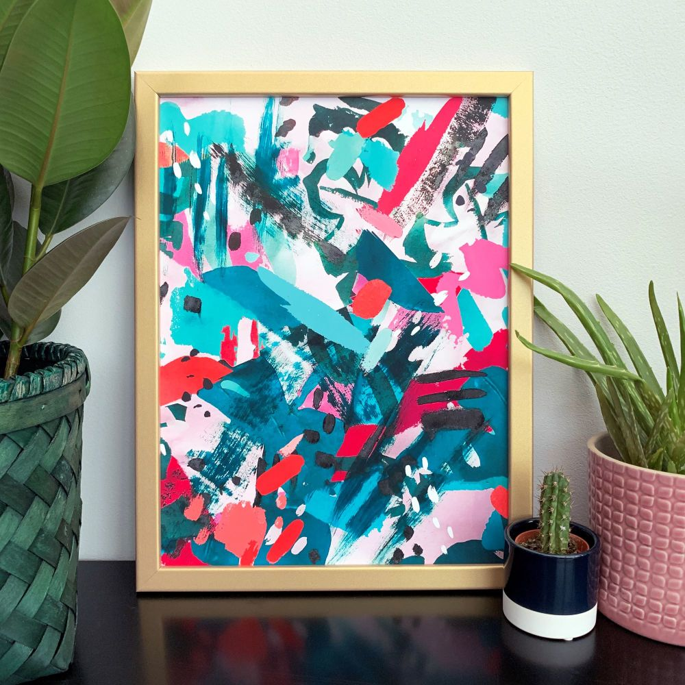 'In the Jungle' Abstract Print