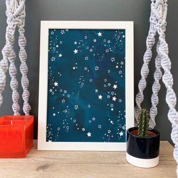 'Night Sky' Abstract Print