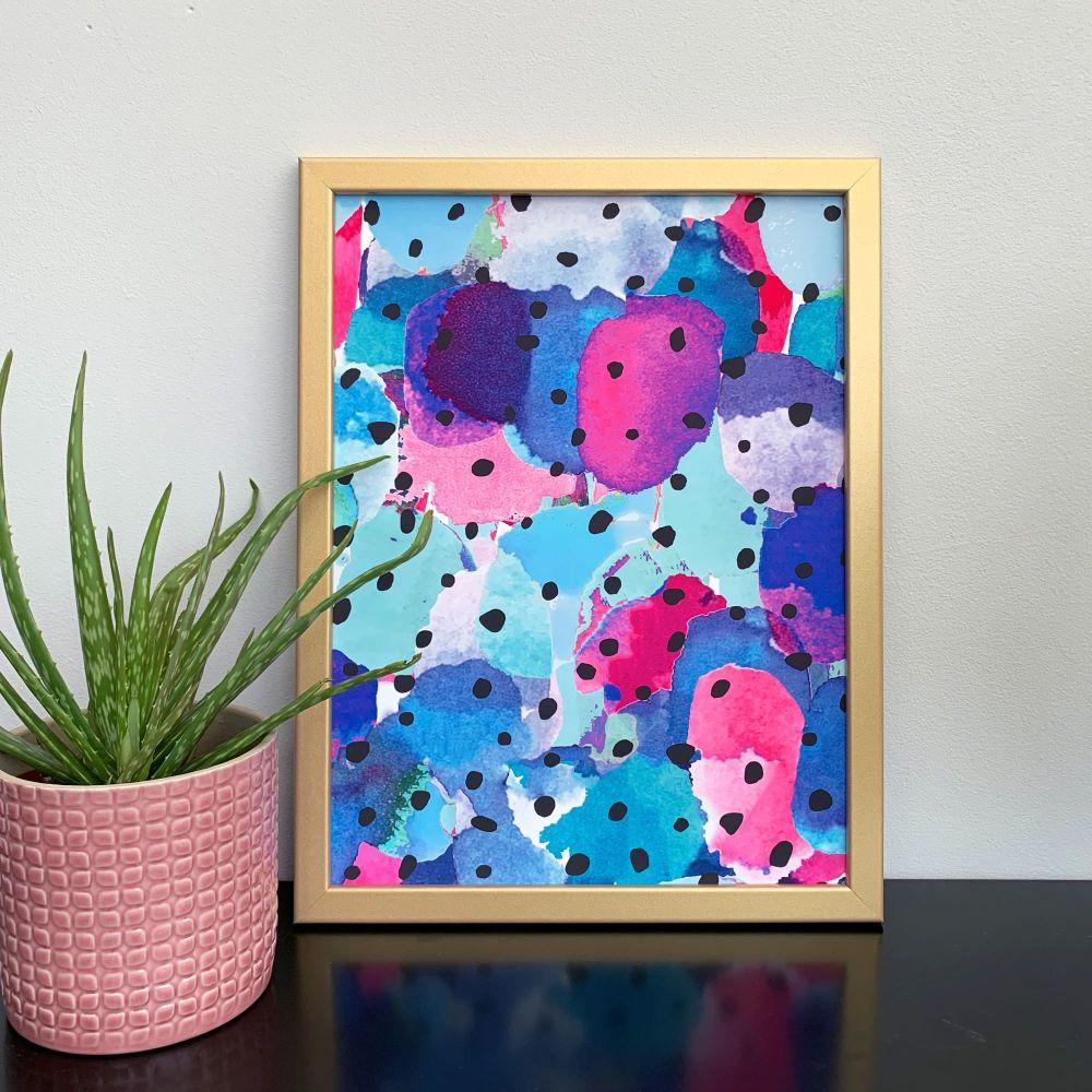 'Pink Cacti' Abstract Print