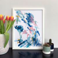 'The Penguin' Abstract Print