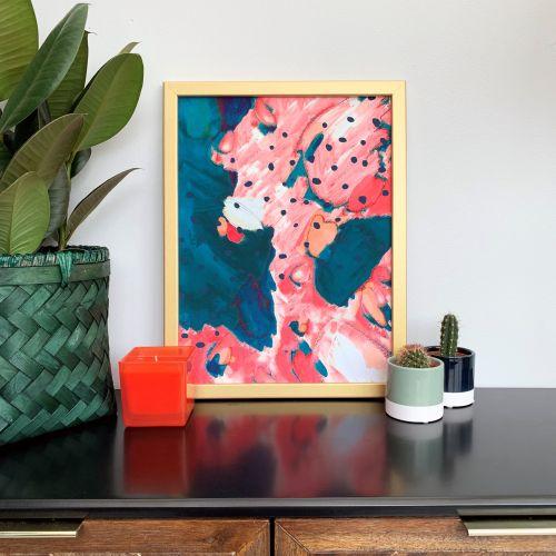 'Watermelon' Abstract Print