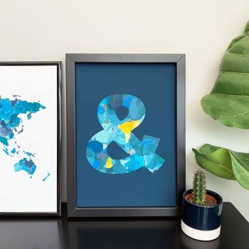 Navy A4 Celestial Ampersand Print