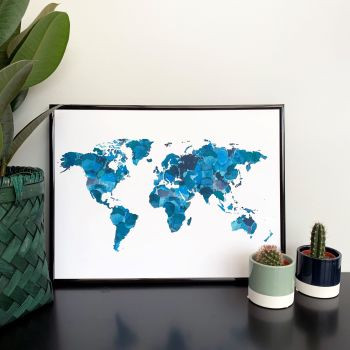 Watercolour Map Print