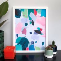 'Dragonfruit' Abstract Print