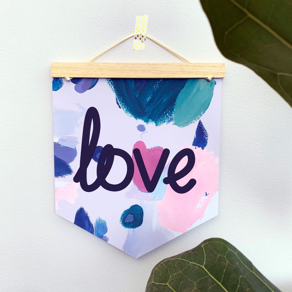 'Love' Pennant Flag Hanging Decoration