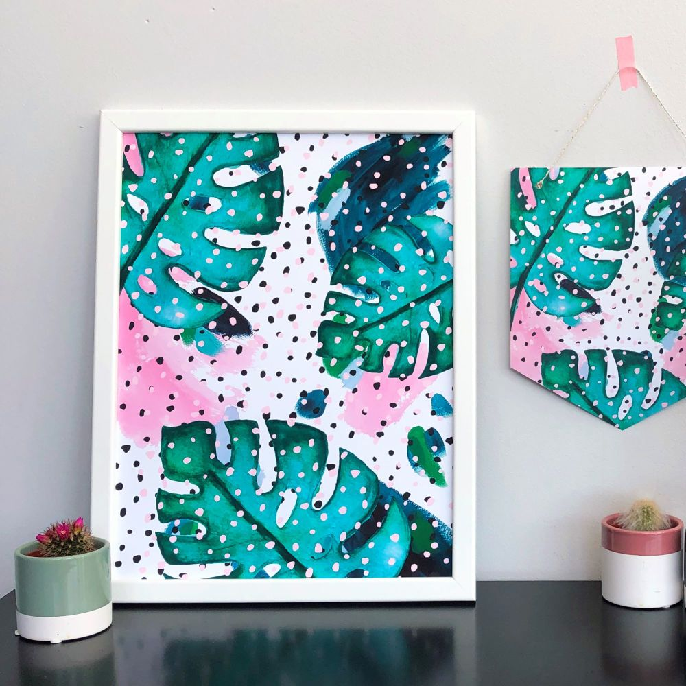 'Botanical Dots' Abstract Print