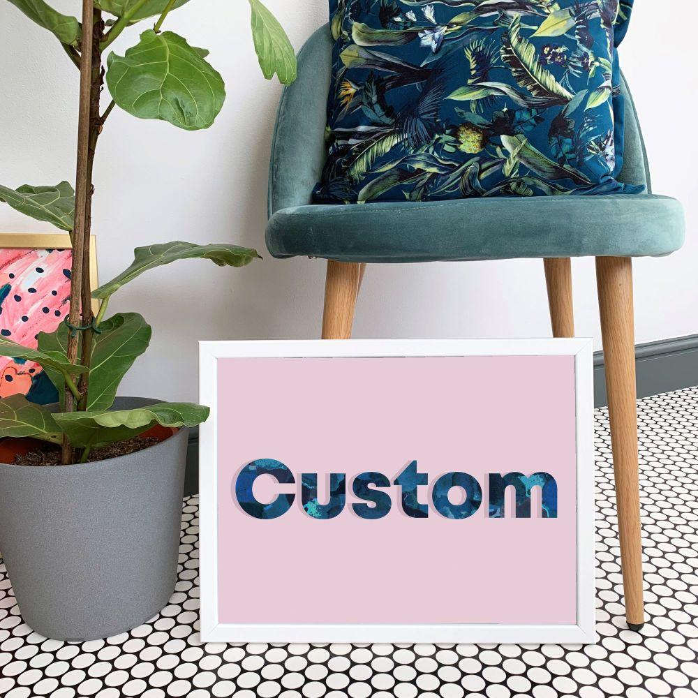 Custom Blush Pink Quote Print