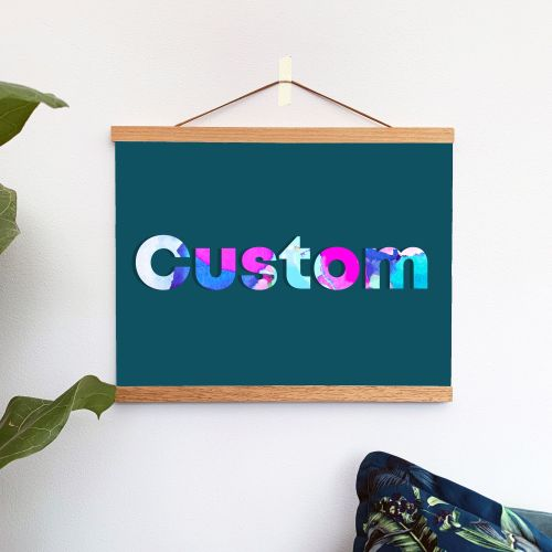 Custom Teal Quote Print