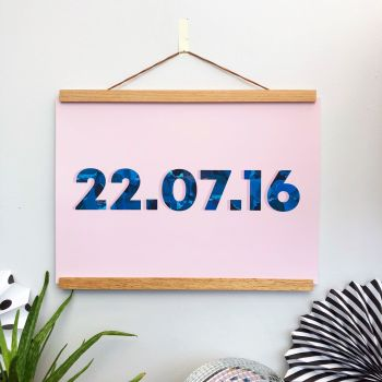 Blush Pink Customised Date Print