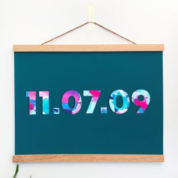 Teal Customised Date Print