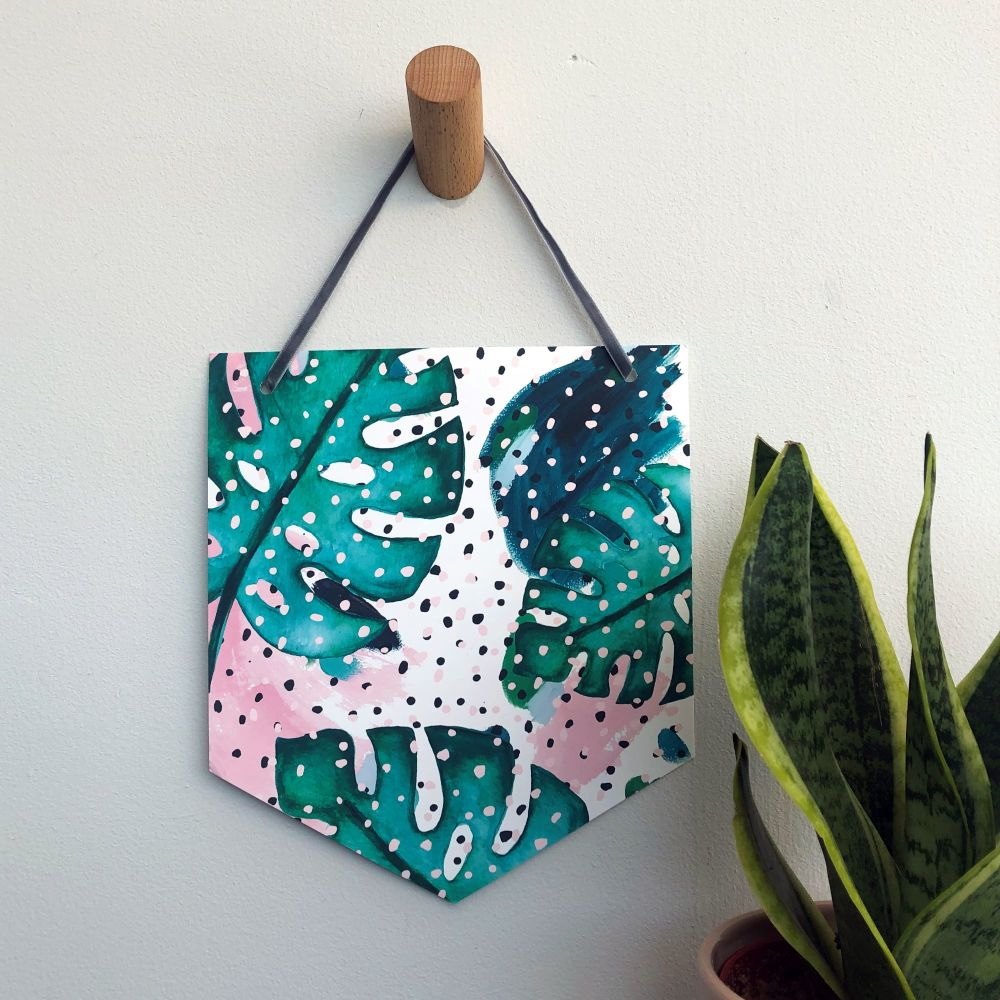 'Botanical Dots' Pennant Flag Hanging Decoration