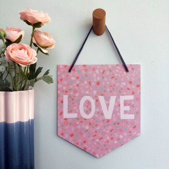 'Terazzo Love' Pennant Flag Hanging Decoration