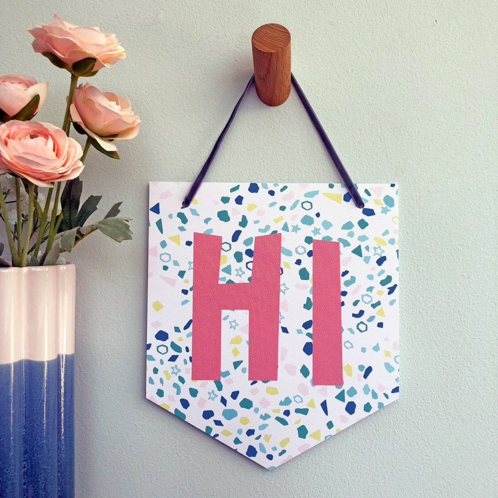 'Hi' Pennant Flag Hanging Decoration