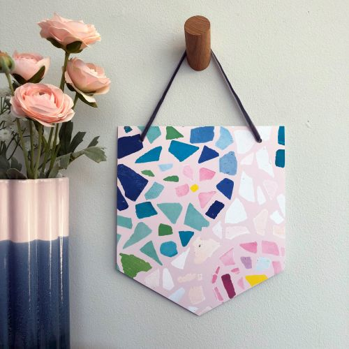 'Colourful Mosaic' Pennant Flag Hanging Decoration