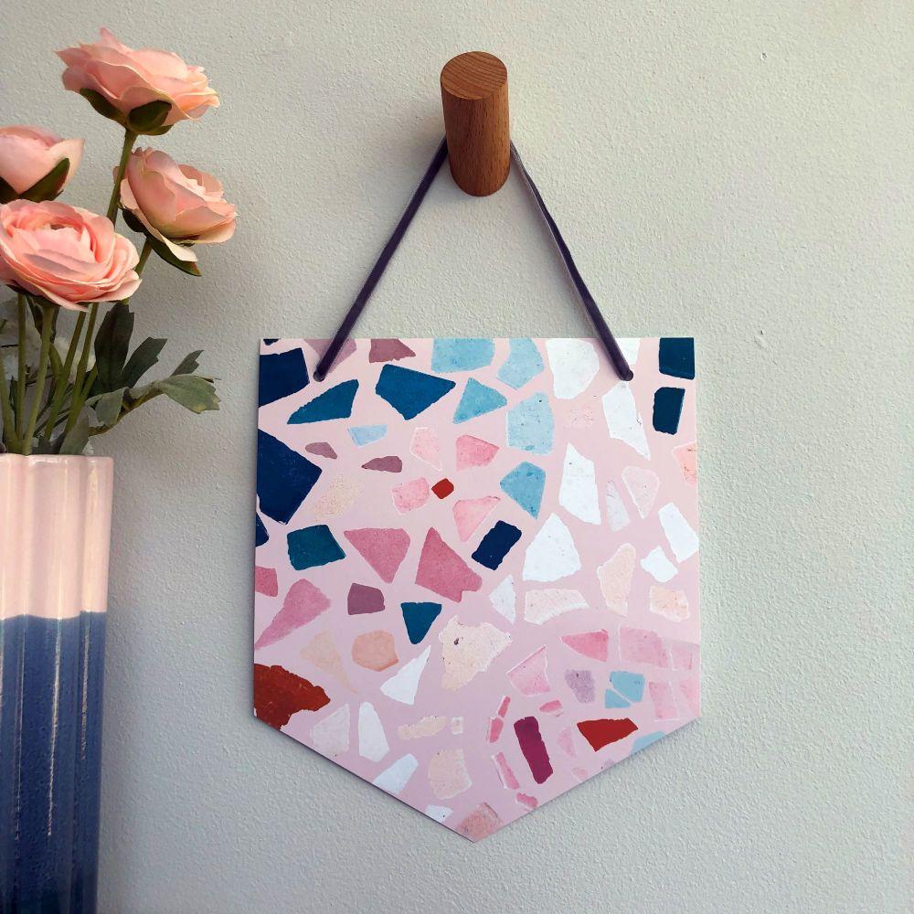 'Blush Mosaic' Pennant Flag Hanging Decoration