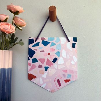 'Blush Mosaic' Pennant Flag Hanging Decoration