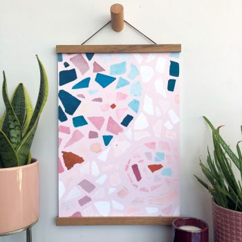 'Blush Mosaic' Art Print
